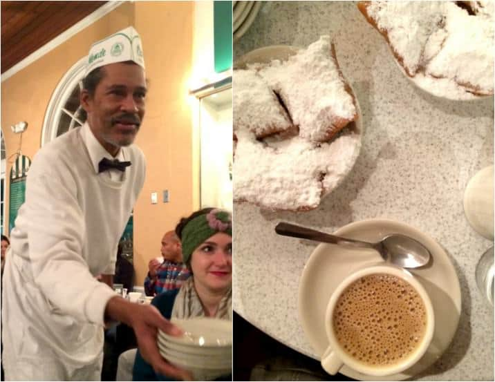 beignets at cafe du monde
