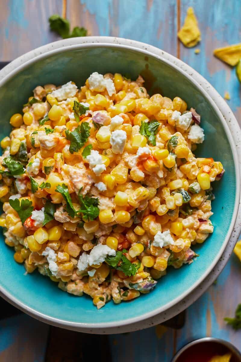 bowl of street corn