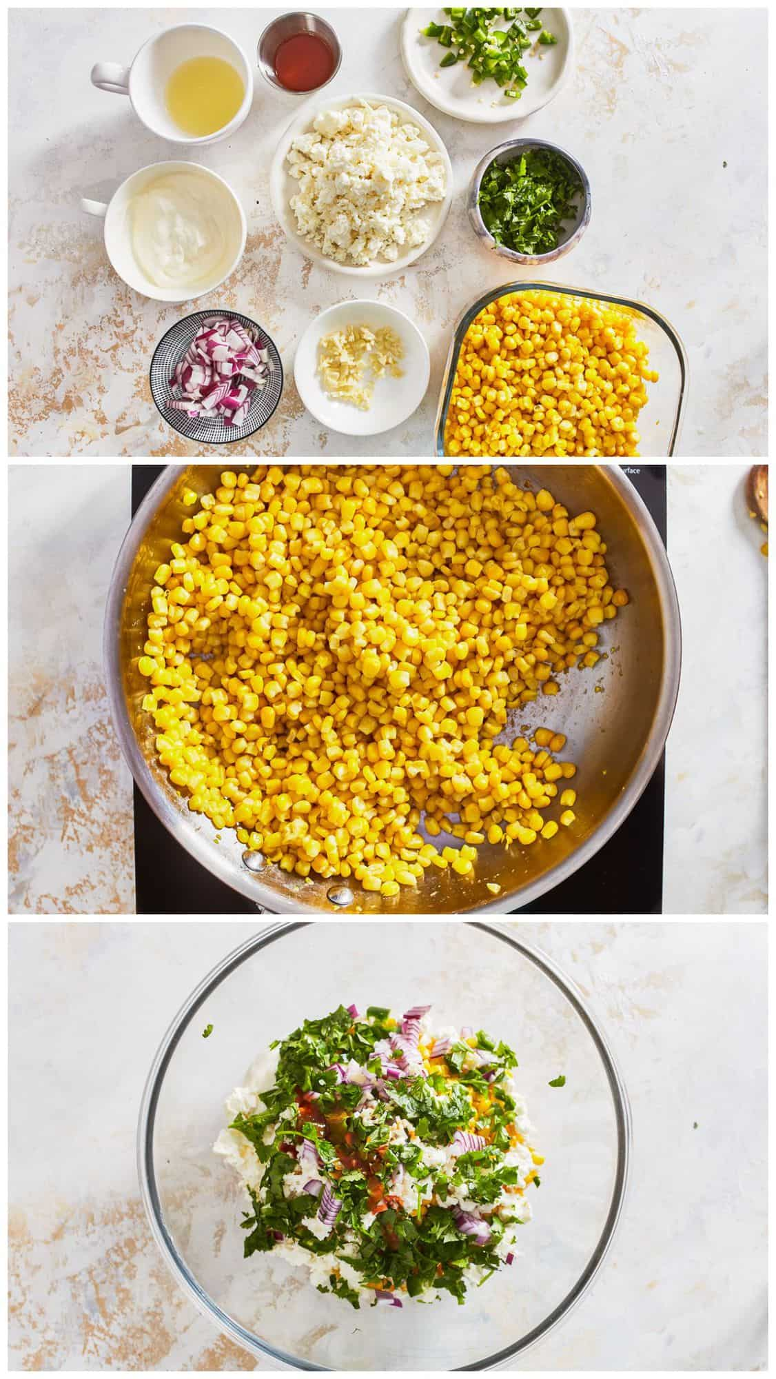step by step photos for how to make healthy street corn