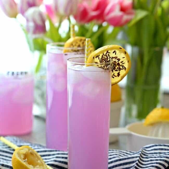 Lavender Lemonade on table