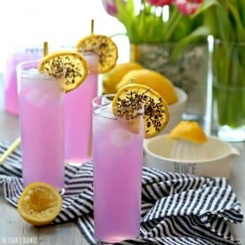 glasses of lavender lemonade