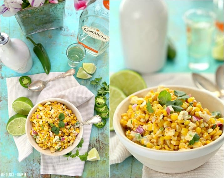 Skinny Mexican Street Corn, made with greek yogurt! This is SO DELICIOUS! | The Cookie Rookie