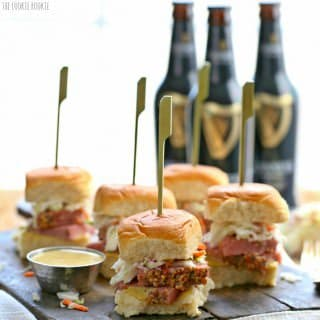 Slow Cooker Corned Beef and Cabbage Sliders (with Guinness Mustard!)