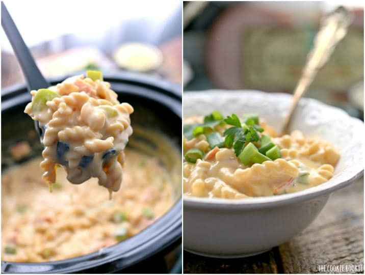 Slow Cooker Hawaiian Pizza Macaroni and Cheese, an EASY crockpot mac and cheese, easy cheesy goodness! A favorite meal at our house!