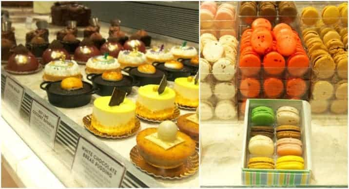 desserts and macarons from Sucre in New Orleans