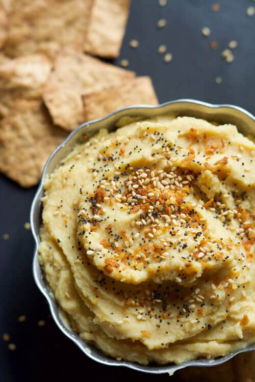 Everything Bagel Hummus | The Housewife in Training Files