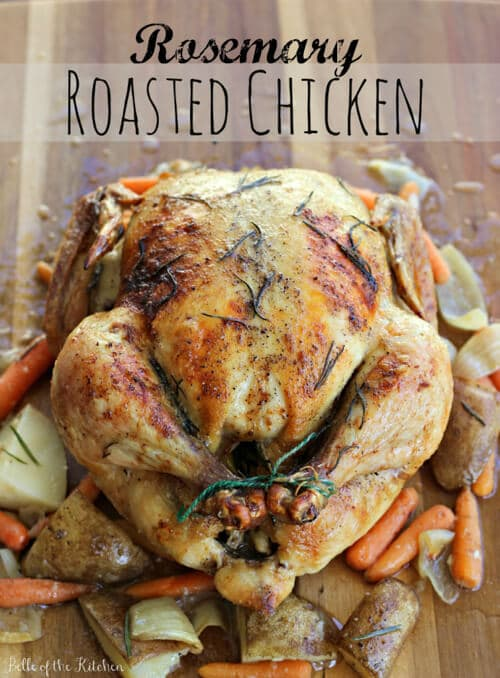 Rosemary Roasted Chicken | Belle of the Kitchen