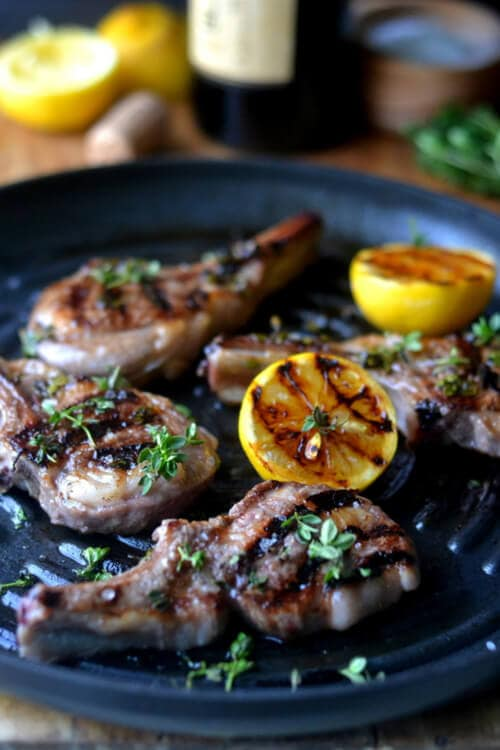 Lemon Thyme Lamb Chops | The View from Great Island