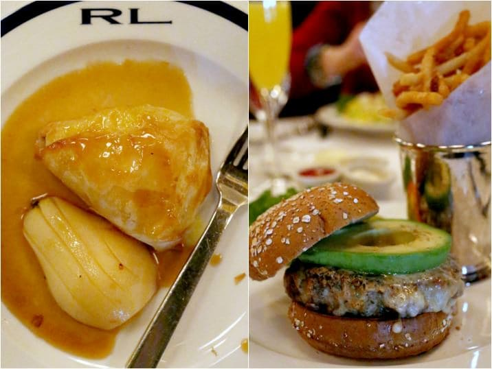 Chicago food, from Ralph Lauren restaurant