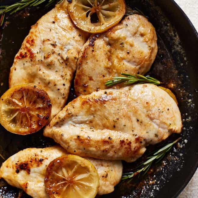 featured lemon chicken skillet