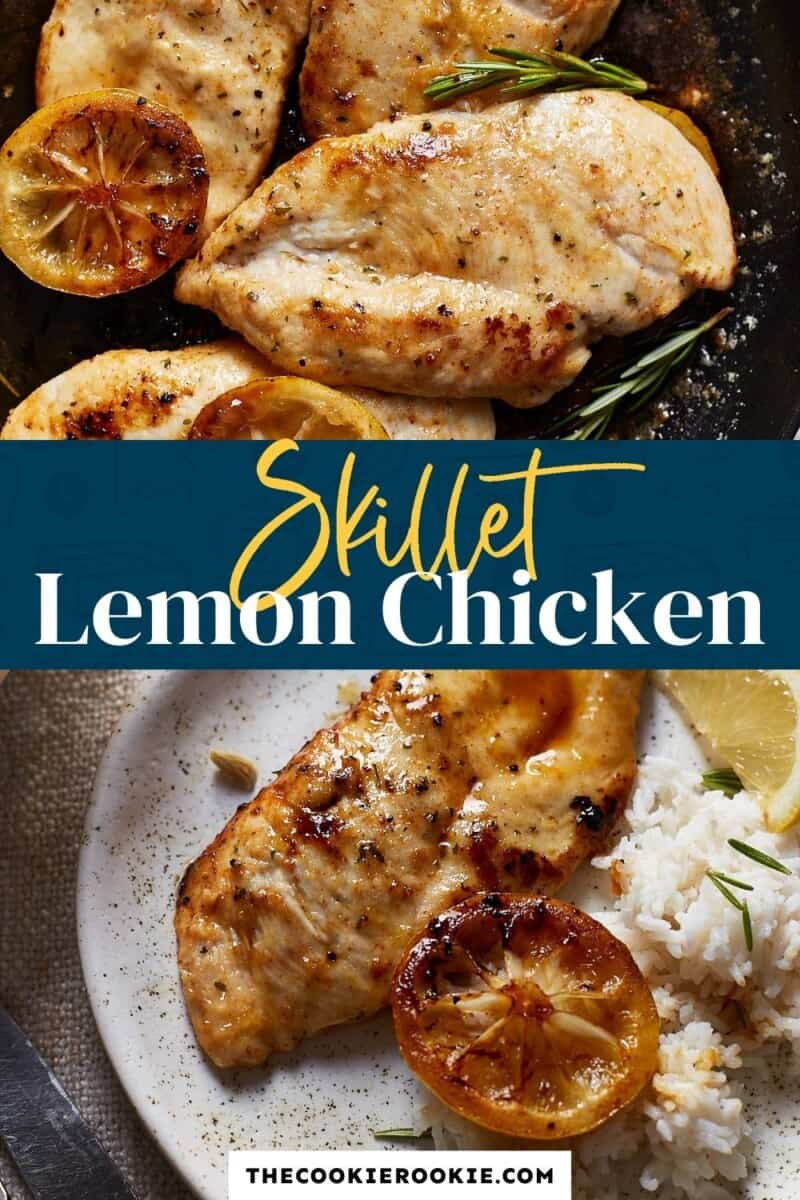 lemon chicken pinterest collage