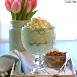 Pistachio Fluff, or watergate salad, is a great side dish for any family get together! Traditional, delicious, and easy. Topped with toasted coconut!