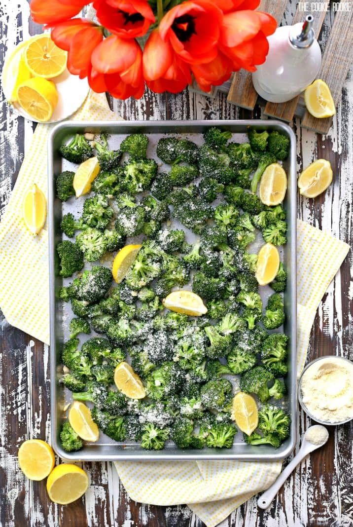 Lemon Parmesan Roasted Broccoli is a delicious and healthy side dish recipe, perfect for any meal!