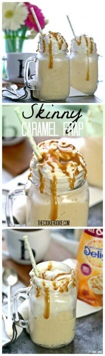 Caramel Frappuccino Recipe Homemade Caramel Frappe The Cookie Rookie