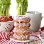 Strawberries and Cream Cake Mix Donuts