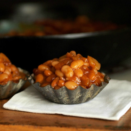 Apple Brown Sugar Baked Beans | Simply Sated