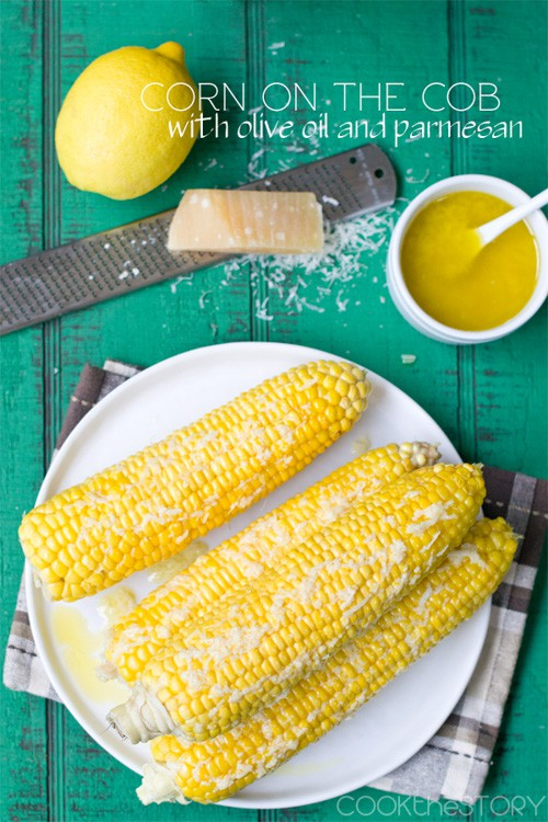 Corn on the Cob with Olive Oil and Parmesan | Cook the Story