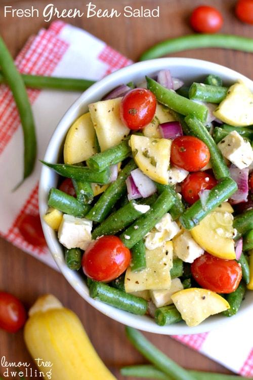 Fresh Green Bean Salad | Lemon Tree Dwelling