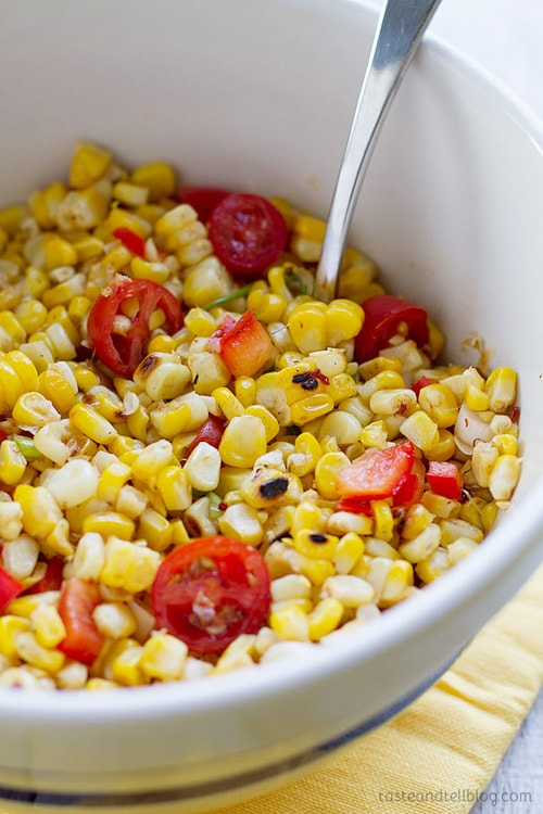 Grilled Corn Salad | Taste and Tell