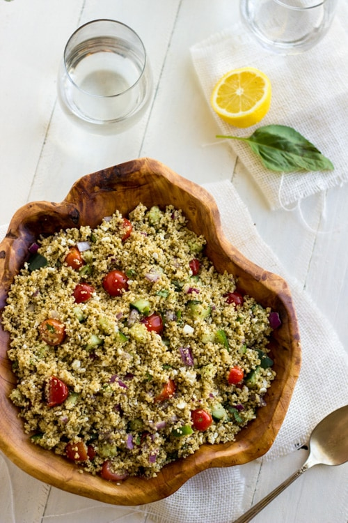 Mediterranean Couscous Salad | Food Faith Fitness