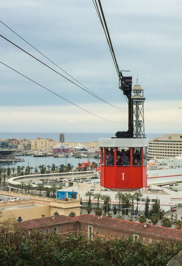 port cable car in Barcelona