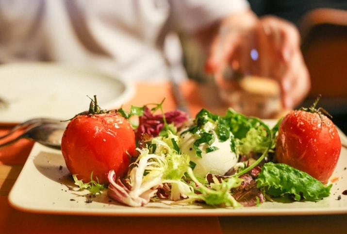 caprese salad from Arcono restaurant in Barcelona