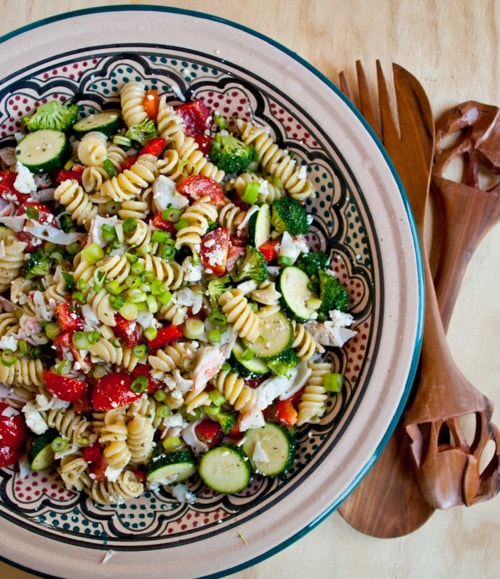 Greek Pasta Salad with Crab & Feta | Neighborfood