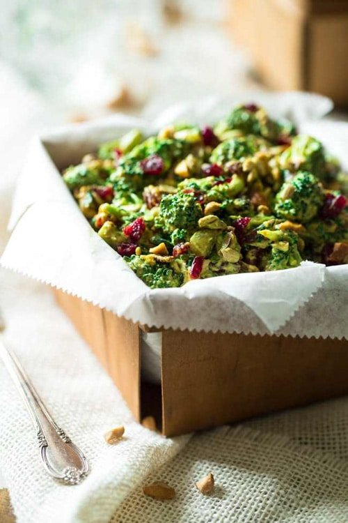Healthy Broccoli Salad with Cashew Curry Dressing | Food Faith Fitness