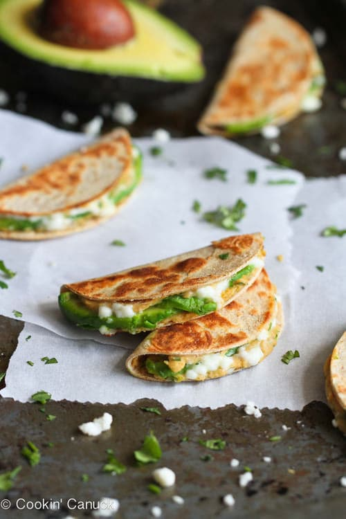 Mini Avocado and Hummus Quesadilla | Cookin' Canuck