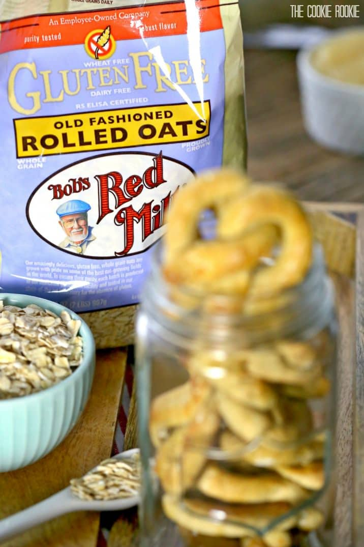 Bob's red mill rolled oats bag and dog treats