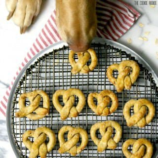 Oat and Apple Pretzel Dog Treats