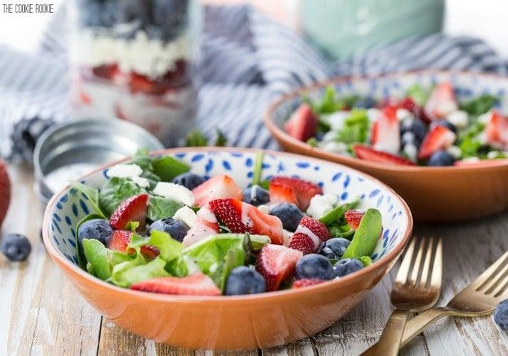 bowls of mason jar salad