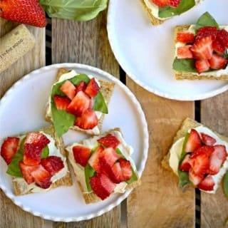 Strawberry Mascarpone Triscuit Bruschetta