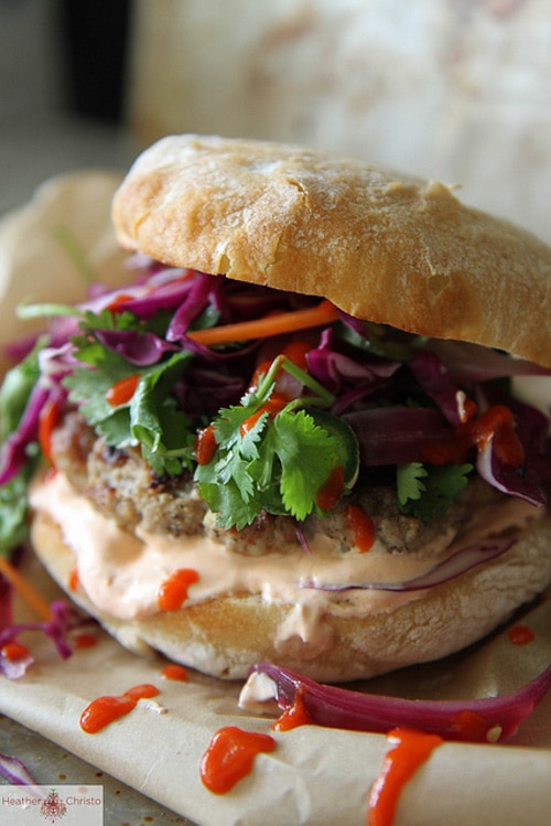 Grilled Asian Pork Burger | Heather Christo