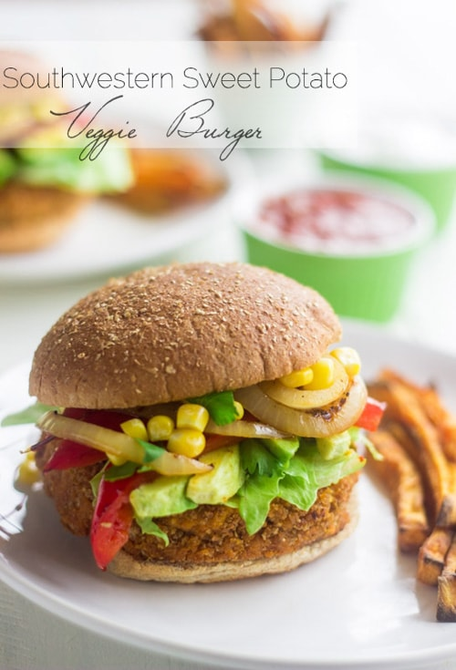 Southwestern Sweet Potato Veggie Burgers | Food Faith Fitness