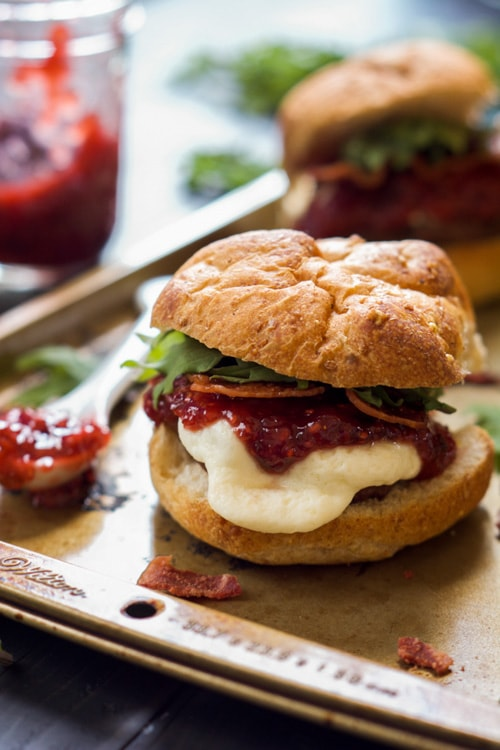 Raspberry Chipotle Mozzarella Sirloin Sliders | The Housewife in Training Files