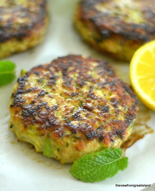 Turkey & Zucchini Burgers with Green Onion and Cumin | View from The Great Island