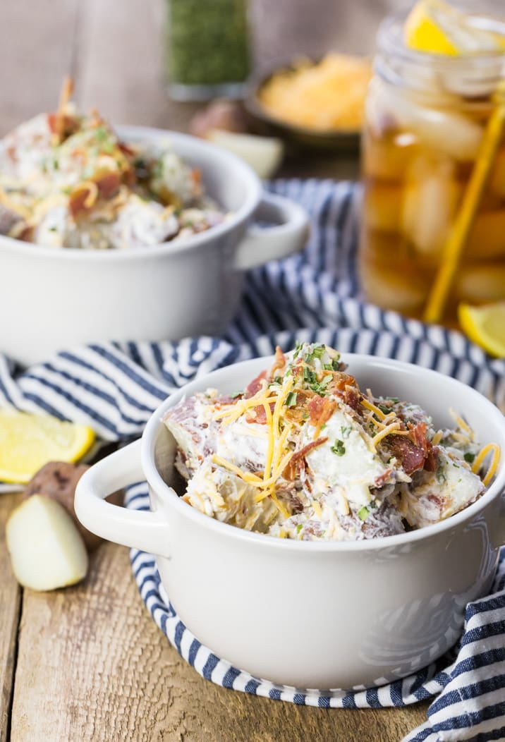 Loaded Baked Potato Salad | The Cookie Rookie