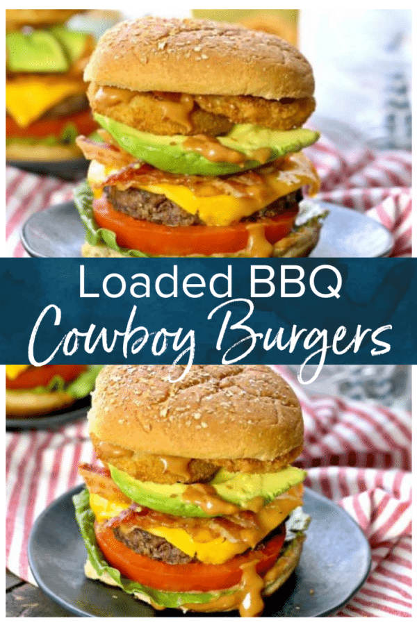 loaded bbq cowboy burger pinterest photo