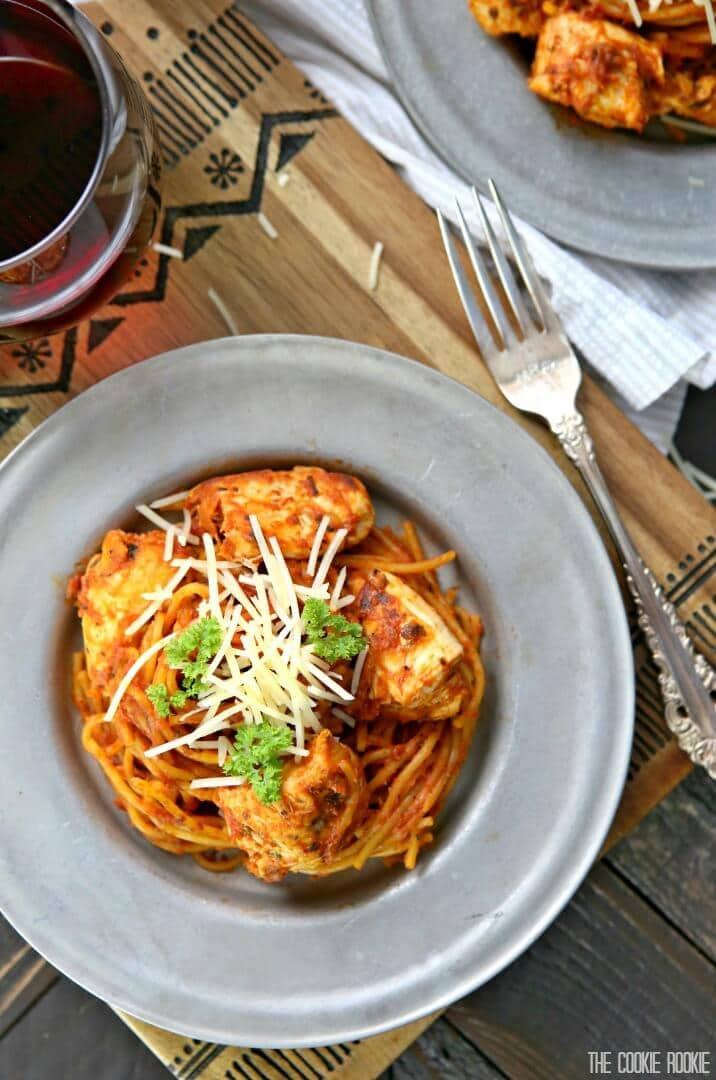 one pot chicken parmesan pasta 10