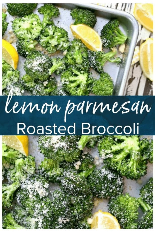 Parmesan Roasted Broccoli is simple, delicious, & healthy. This baked broccoli side dish is perfect for any meal. Try this garlic, lemon, & parmesan broccoli recipe tonight!