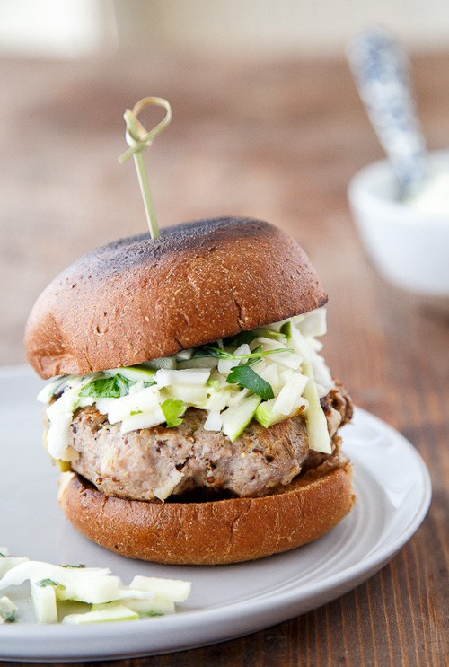 Rosemary-Apple Chicken Burgers + Slaw | Dessert for Two