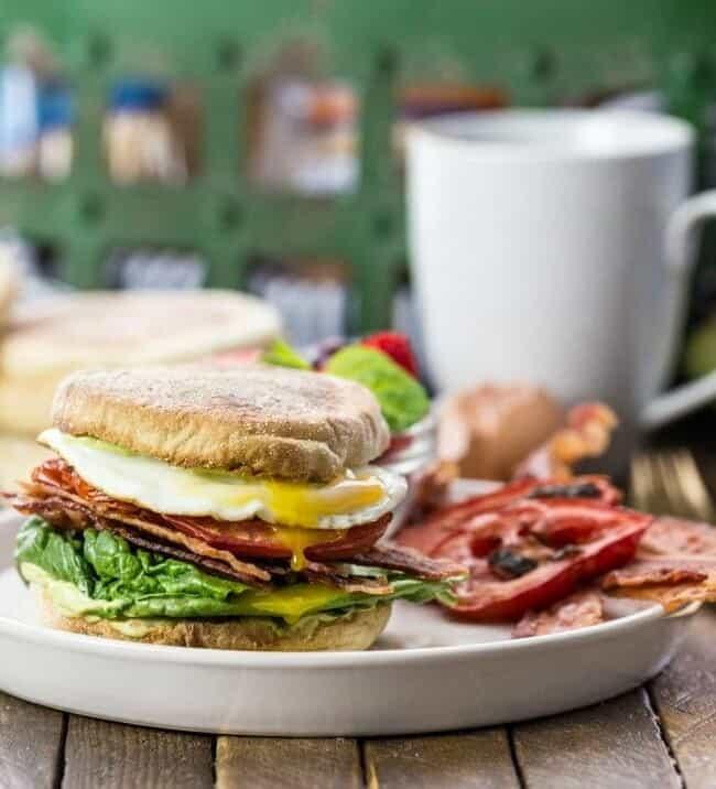 breakfast blt on plate
