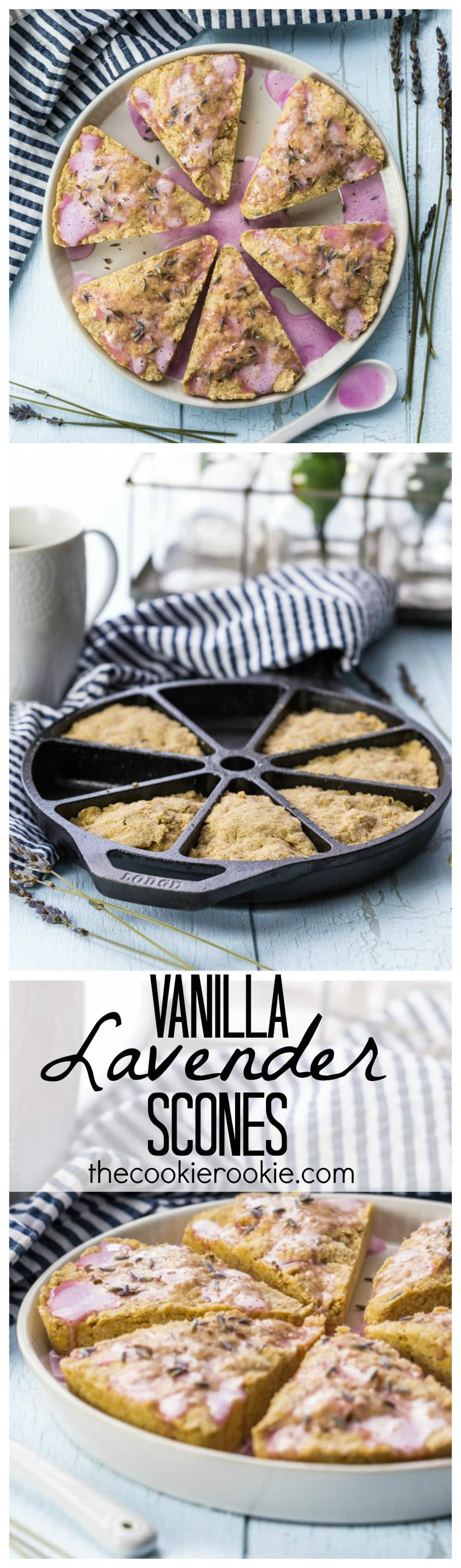 Vanilla Lavender Scones; comforting, simple, and delicious! The best breakfast or mid-day snack with tea...amazing!