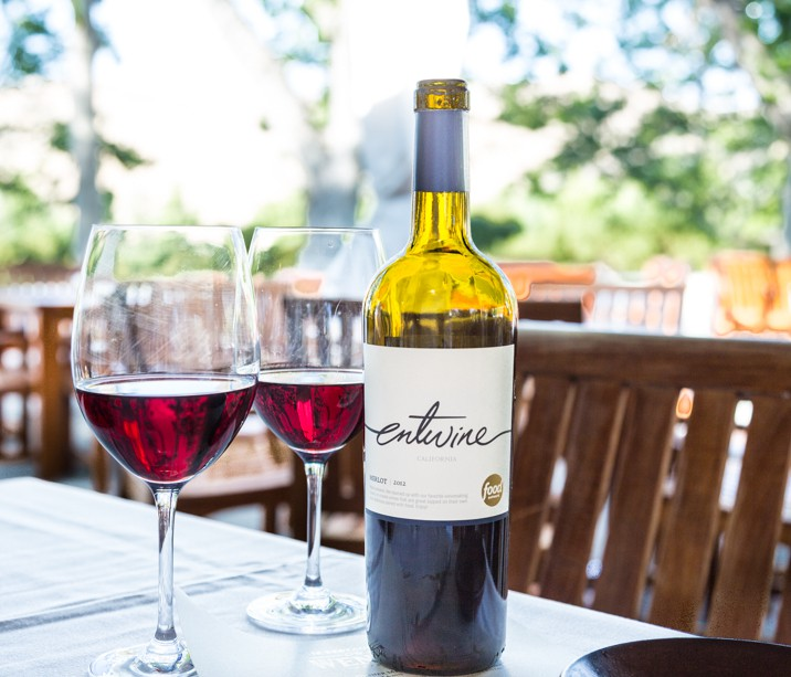 Entwine wine from wente vineyards, livermore valley california