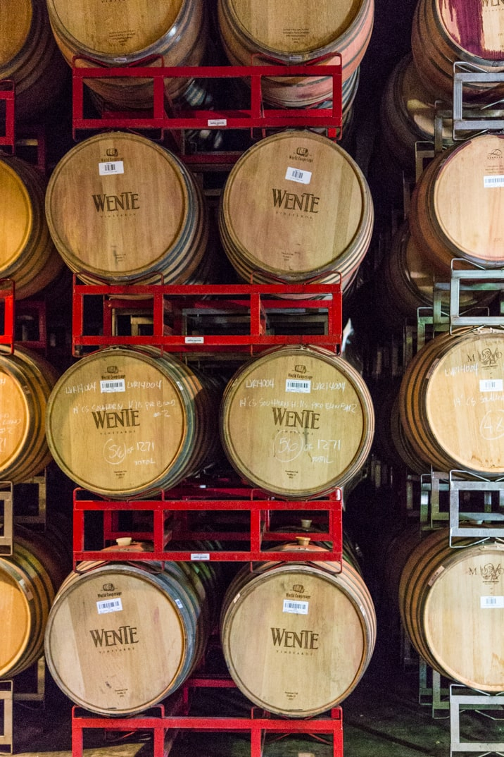 wente vineyards wine barrels, livermore valley california