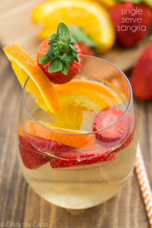Single Serve Sangria For One | Crazy for Crust