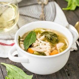 Crockpot Tuscan Chicken Soup