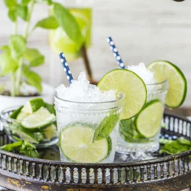 italian mojitos on a tray