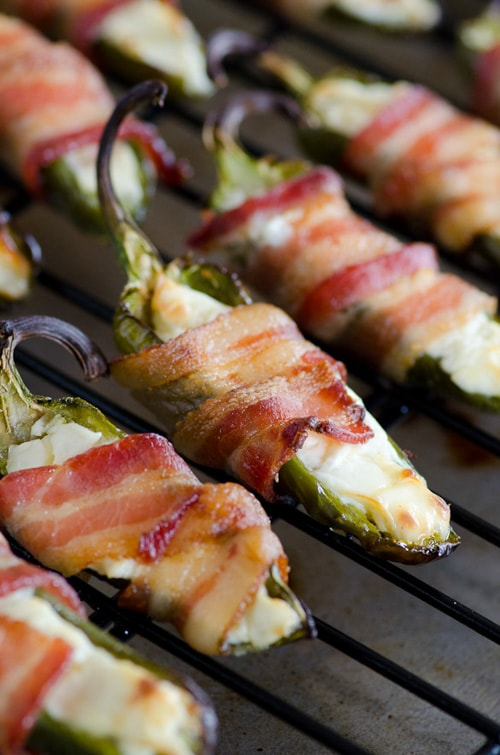 Grilled Bacon Wrapped Jalapeno Poppers | Seeded at the Table